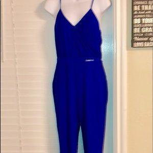 Bebe NWT royal blue jumpsuit  stunning SZS